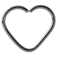 Titanium Heart Continuous Piercing Ring