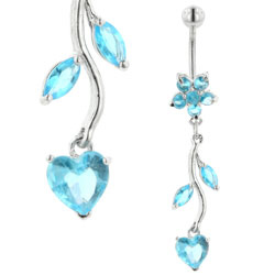 Blue Vine Belly Bar