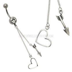 Cupid Heart Belly Bar