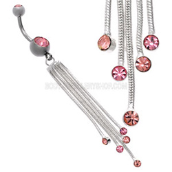 Pink Waterfall Belly Bar