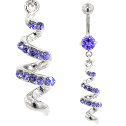 Purple Twist Belly Bar