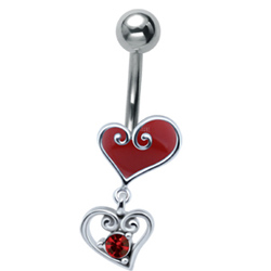 Red Heart Drop Belly Bar